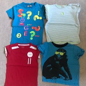 T-shirt, bade og shorts pakken i str 104 i mærkerne: H&M, VRS, Entry, Name it, Ellos. Tøjet er i pæn stand, ingen huler eller slid, det er kun den ene t-shirt i striber (blå/hvid) som har en plet: som jeg vælger at tage kun 8 kr for den. Pakken sælges i 1 salg, prisen er fast, da stk er ca 13 pr stk, billigere ind butik/genbrug. Pakken kommer fra et ikke ryger hjem, vasket i neutral. Sender gerne men modtager betaler. Eller afhentes i Århus V. Pakken består af 22 11 t-shorts 11 shorts Kig på mine andre annonce, så kan vi finde ud af noget rabat.