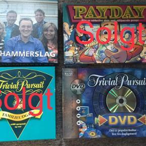 Spil Hammerslag og Trivial pursuit DVD 60 kr pr spil