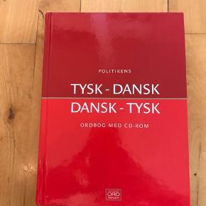 Politikens tysk-dansk og dansk-tysk ordbog uden cd