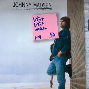 Vinyl lp plade Johnny Madsen Udenfor sæsonen duper stand Se mine andre plader