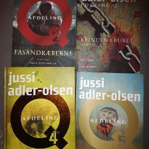 Jussi Adlers bøger nr. 1, 2, 4 og 5 i serien om Afdeling Q. Sælges både enkeltvis eller hvis flere har interesse. Kom med et bud. Sælges billigt