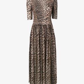 Smuk Ganni mesh leopard kjole. Brugt lidt