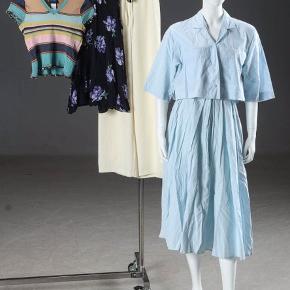 Lyseblå vintage kjole sæt fra Kenzo Lavet i Frankring  100% bomuld