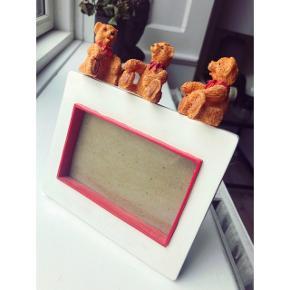 Lille retro-ramme med bamser