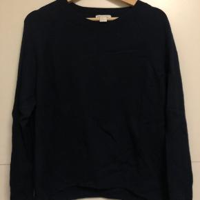 H&M Basic Sweater med rund hals - Str. M  Farve: Navy