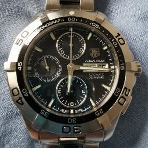 TAG Heuer Aquaracer. Chronograf med Calibre 16 urværk. Rigtig pæn og velholdt ur. (Org. kasse, boks og papirer kan medfølge, eller uorg. boks)