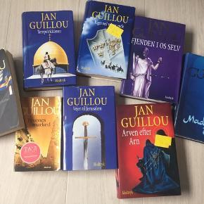 8 stk Jan Guillou bøger sælges samlet til 100kr