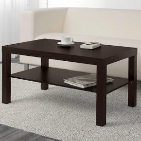 Fint sofabord i sortbrun fra IKEA. Billeder på vej