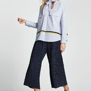 Zara pleated navy trousers with dot  #30dayssellout