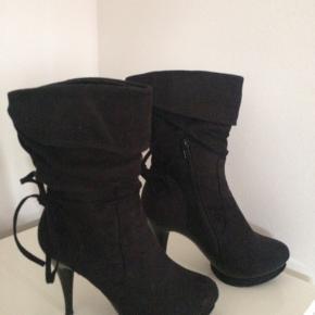 Chico støvler brugt en gang / hæl ca. 11 cm / plateau ca. 2 cm imiteret skind