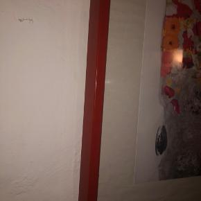 Flot vintage rød ramme. Den er 60,5x40,5