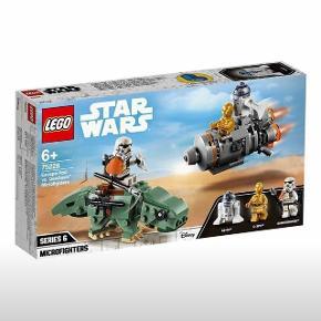 Helt ny, aldrig åbnet Lego Star Wars:  Escape Pod w/ Dewback - 75228. Sælger dette Lego sæt til nedsat pris.  Originalpris: 200kr  Kan afhentes i Esbjerg V.  Kan også sendes med GLS - dog kommer 39 kr oveni (med tracking nr).  Sælger også andre LEGO Star Wars sæt - se annoncer.