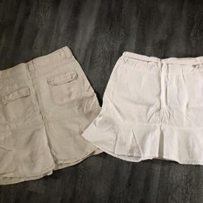2 smarte Nederdele 😀  Only hvid str 42 H&M beige str 40 Oprindelig købspris: 398 kr. Begge for 125kr ☀️☀️☀️☀️☀️☀️  2 dejlige  nederdele, kun brugt få gange da jeg desværre har købt dem for store  Hvid Only nederdel str 42 H&M nederdel i hør  str 40  Begge sælges for 120 kr + forsendelse