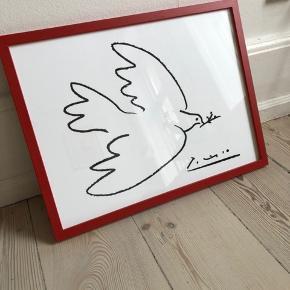 Helt ny Picasso poster og rød træramme fra Poster & Frame - ny pris 440 kr  Sælger kun som kombo - poster + ramme