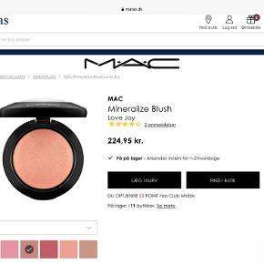 MAC MineralizeBlush i farven LoveJoy, Som ny, nypris 225kr