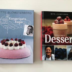 Mette Blomsterberg - kongerigets kager og Politikens bog om dessert. 40 kr pr stk