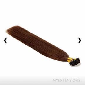 Hot fusion hair extensions. Ægte hår.   Ca 70 gram ubrugte ☺️ Np for 70 gram på billedet.