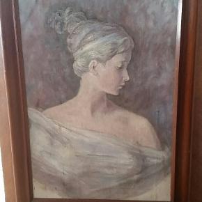 Smukt maleri med solid ramme. Jeg kender ikke kunstneren.   Det måler 58x80 cm.