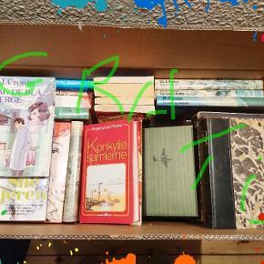 En hel kasse med bøger eller vil du kun have et par stykker så kom  til gratis afhentningRomaner krimi og fortællinger. Blandet landhandel