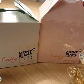 30 ml Mont Blanc  edt frisk duft. 50 ml lady Mont Blanc  edp også dejlig blomsterduft men ikke mig købt ved juletid sælges gerne sammen inkl fragt