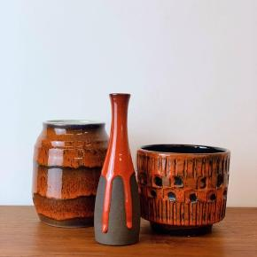 Keramik❤️🌞 fra venstre: Dansk Braks Keramik: 215kr.  Danish Design: 75kr.  Italiensk Bitossi Cermaics urtepotte: SOLGT.