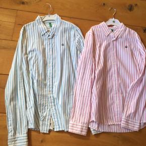 Varetype: Skjorte Farve: Hvide  De er kun brugt 1-2 gange, så flotte som nye. Sælges kun 110+ for begge to, sender med DAO.