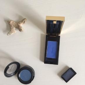 Selger 3xblå øyeskygge fra Yves Saint Laurent, MAC og Art Deco  Yves Saint Laurent 100 DKK MAC 75 DKK Art Deco 50 DKK Samlet 195 DKK  Købt i 2017, kun brugt nogle gange