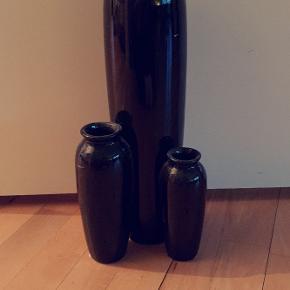 3 i 1 vase, altid kun stået til pynt. 37 cm høj