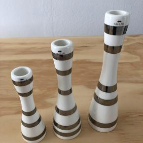 KÄHLER OMAGGIO candle holders in 3 different sizes. H24cm H20cm H16cm