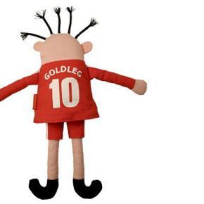 HELT NY Goldleg fodbold dukke ca. 37 cm Sjov Roomie dukke - Goldleg NY dukke. Ca. 37 cm høj. Har 2 stk. Pris pr stk: 40 kr pp