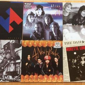 Diverse Lp'er, 20kr pr stk, Wilson Phillips, Heart, Roxette. NB: 4 non blondes, Scorpions og Mr Big er solgt