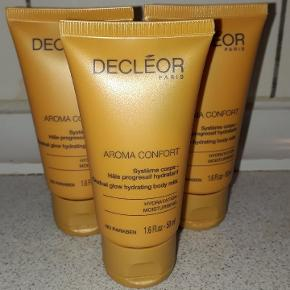 Decléor Aroma Confort Gradual Glow Hydrating Body Milk 50 ml.  Normalpris 130,- kr. pr. stk.  Prisen er for alle 3.