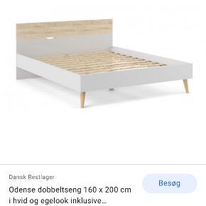 Sælger denne sengegavl,da jeg skal flytte og derfor gerne vil skrifte til en anden. Der er mulighed for at købe madras og top madras med i købet, samt to tilhørende sengeborde. Jeg er åben for bud, så BYD endelig🤍🤍