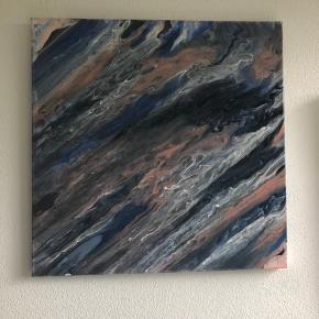 Smukke abstrakte malerier i forskellige farver - spørg for pris. Kan laves efter farvekort, str.  og ønsker - send gerne et bud, da der skal ryddes op i galleriet ;-)   .. sender gerne!