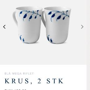 To kopper med det klassiske blå mega mussel. Brugt få gange så der er ingen tegn på slid.