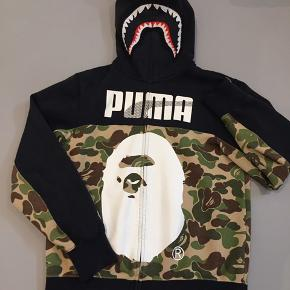 BAPE X Puma ABC Camo Shark Hoodie Black/Green  Cond 7-8/10 STR Small  BYD! Jeg er til at forhandle med.  Står til 2650 Kr. på Stockx