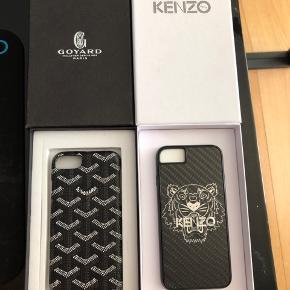 Sælger Kenzo og Goyard cover til iphone 7/8  Kenzo er aldrig blevet brugt og fremstår som nyt Cond 10/10 mp 175 (budt) Bin 300kr  Goyard er blevet en lille smule slidt nede på hjørnet Cond 7-8/10 mp 100kr (budt) Bin 250kr  Tag dem begge til 450kr