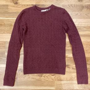 Fin sweater fra H&M L.O.G.G i merinould-blanding.