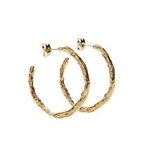 De populærer Pico øreringe • Sterling sølv forgyldt i 24k guld  • Diameter 3,5cm • Brugt 5-6 gange  • Medium størrelsen