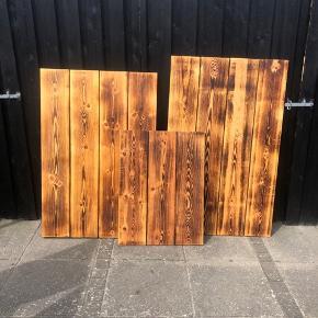 Plankeborde måler 120x80 og 130x80 pris pr stk 550,- Lille sofabord 80x60 350