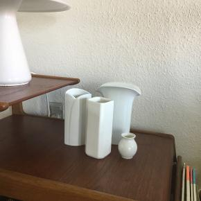 Kpm vase: ca 6.5cm. Loucarte: ca 15,5 cm. Kaiser: ca 16.5cm. Hutschenreuther: ca 18,cm.