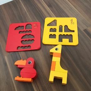 Lego duplo  Saml selv dyr med skabelon