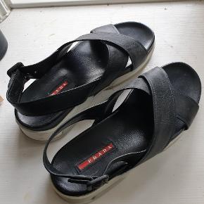 Prada leather sandals Super comfortable Adjustable heel strap Fit 38-39
