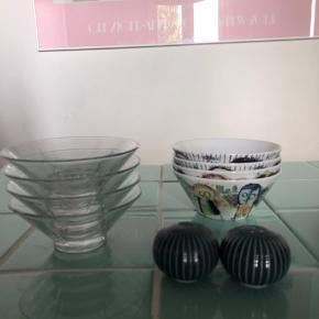 Lidt af hvert til køkkenet.  4x Rosendahl skåle = 50 kr. 4x Paul Pava skåle = 50 kr.  Kähler salt og peber sæt = 50 kr.