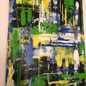 Akrylmaleri, abstrakt 60x80