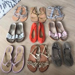 Forskellige sko. Str. 40. Alle i standen slidt til god men brugt. Sælges billigt.  Alle sælges samlet for 250 inkl. porto