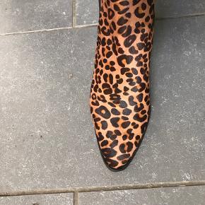 Leopard Chelsea boots brugt få gange med rågummisål