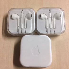 3 stk. høretelefoner, original. Til iphone 4,5 og 6