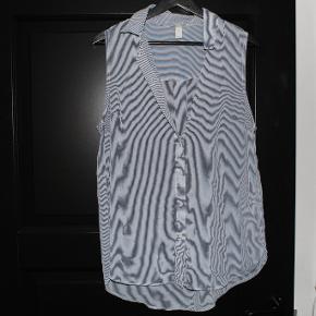 Stribet skjortet uden Ærmer