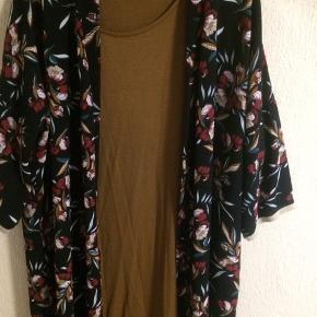 Kimono med matchende lang t-shirt kjole